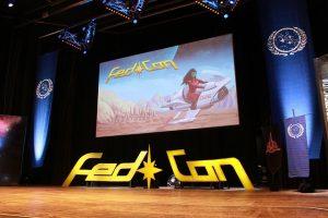 FedCon XXVI - Bühne mit Leinwand